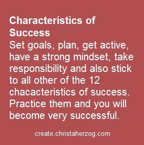 Characteristics of Success