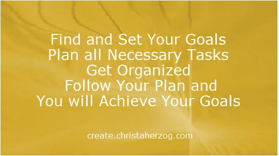 Set Your Goals Plan Organize