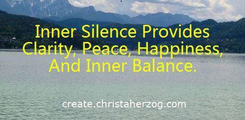 Inner silence provides clarity, peace and happiness