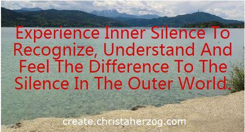 Inner Silence vs Silence in Outer World
