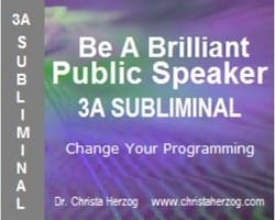Be A Brilliant Public Soeaker 3A Subliminal Cover