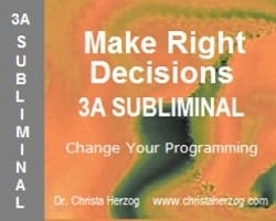 Make Right Decisions 3A Subliminal Cover