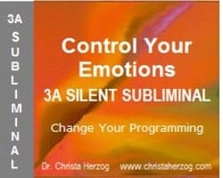 Control Your Emotions 3A Silent Subliminal Cover
