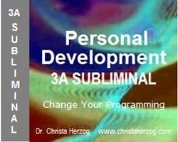Personal Development 3A Subliminal Cover