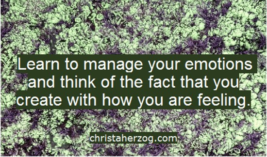 Learn to manage your emotions