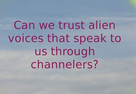 Can we trust alien voices