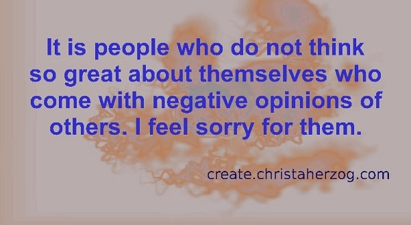 Negative poeple have negative opinions of others