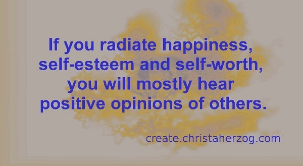 Positive Opinions of others with self-esteem