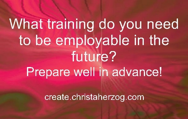 Training to be employable in the future